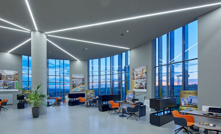 Press kit | 1980-01 - Press release | Yazgan Design wins the 'Innovative Use of Color Award' at WAF 2015 - Yazgan Design Architecture - Competition - Sales representatives area - Photo credit: Yunus Özkazanç