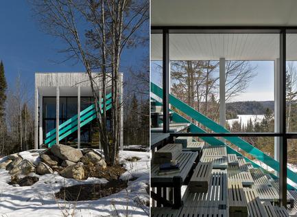 Press kit | 1102-02 - Press release | Maison Lac Jasper - Architecturama - Architecture résidentielle - Maison Lac Jasper - Photo credit: James Brittain Photography