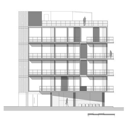 Dossier de presse | 1825-01 - Communiqué de presse | Just Be Apartments - Arqmov Workshop - Residential Architecture -  Reynosa Street Façade  - Crédit photo : arqmov workshop