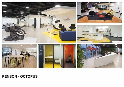 Dossier de presse | 1886-01 - Communiqué de presse | Penson design a Lively and Flexible Space for Octopus - Penson - Commercial Interior Design - Crédit photo : Penson