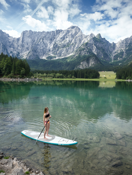 Press kit | 1857-01 - Press release | SipaBoards Bring Fresh Air To Paddleboarding - SipaBoards - Product -  Laghi di Fusine, Italy  - Photo credit:   Uros Podlogar