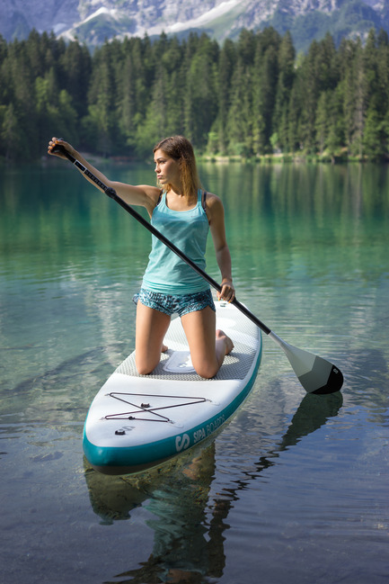 Press kit | 1857-01 - Press release | SipaBoards Bring Fresh Air To Paddleboarding - SipaBoards - Product - The self-inflation feature makes it a breeze to hit the water, while the motor-assist helps paddlers overcome difficult winds and currents, extend their range, and find that idyllic hidden spot. - Photo credit:  Uros Podlogar
