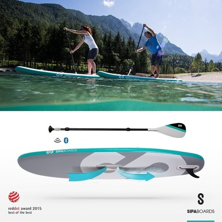 Press kit | 1857-01 - Press release | SipaBoards Bring Fresh Air To Paddleboarding - SipaBoards - Product - AllRounder - the most popular choice of paddleboard shape. It is versatile and stable enough to serve the whole family. It can be a great fun for the kids and workout for the parents. It will also hold a few persons on a quest to find the perfect beach with a little help from the engine.<br><br> - Photo credit: SipaBoards