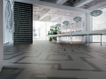 Press kit | 1177-03 - Press release | An incredible maze of ideas and creativity: Labyrinth by Giulio Iacchetti - Ceramiche Refin S.p.A. - Product - Labyrinth Angle Slate 60x60 - Photo credit: Ceramiche Refin S.p.A.