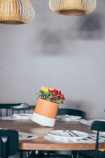 Press kit | 2019-01 - Press release | Voltasol, the rolling flowerpot - Studio BAG Disseny - Product - Regadera Restaurant - Interior Design Leblume<br> - Photo credit: marinamluna
