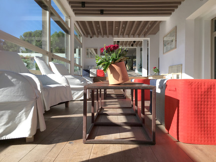 Press kit | 2019-01 - Press release | Voltasol, the rolling flowerpot - Studio BAG Disseny - Product -  L'Escala - Empúries Hotel<br>  - Photo credit: BAG Disseny Studio