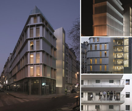 Press kit | 2013-01 - Press release | Winner & Shortlisted announcement for WAN Residential, Mixed Use, Adaptive Reuse Award 2015 - World Architecture News Awards (WAN AWARDS) - Residential Architecture - Residential: ALUMINIUM TIP by BABIN+RENAUD architects - Photo credit: © Cecile Septet