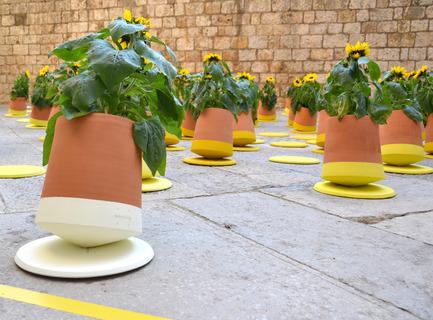 Press kit | 2019-01 - Press release | Voltasol, the rolling flowerpot - Studio BAG Disseny - Product - Temps de Flors, Girona<br> - Photo credit: Studio BAG Disseny<br>