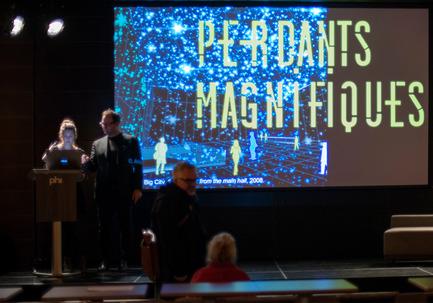 Press kit | 763-16 - Press release | Perdants Magnifiques 2 - Maison de l'architecture du Québec - Évènement + Exposition - La première soirée Perdants Magnifiques au Centre Phi le 26 octobre 2015.<br> - Photo credit: Alain Laforest<br>