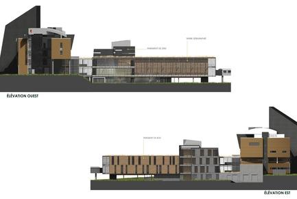 Dossier de presse | 755-03 - Communiqué de presse | Agrandissement du campus de Rouyn-Noranda de l'UQAT - Les architectes du Pavillon des Sciences (Consortium TRAME, CCM² + BGLA) - Architecture institutionnelle - Crédit photo : UQAT