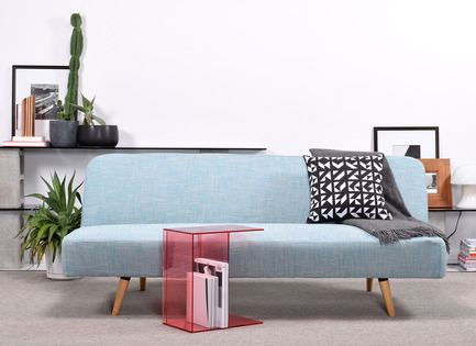 Press kit | 2038-01 - Press release | Affordable, renewable furniture designed in Montreal - Élément de base - Product - Teatime $375 and Perplexe pink $135  - Photo credit: EDB