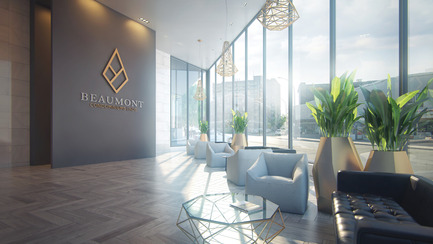 Dossier de presse | 2056-01 - Communiqué de presse | Unveiling Of The Brand New Beaumont Condominiums Project - DevMcGill - Real Estate - The Lobby : A Grand Entrance - Crédit photo : Sébastien Gaudard - Vizual 3D