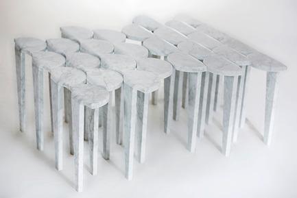 Press kit   1604-05 - Press release   Design Days Dubai, the world's most diverse fair dedicated to collectable design opens March 14, 2016 - Design Days Dubai - Commercial Interior Design - Loulwa Al-Radwan, Pride, table, marble, 80x85x42cm, 2016 - Photo credit: Loulwa Al-Radwan,