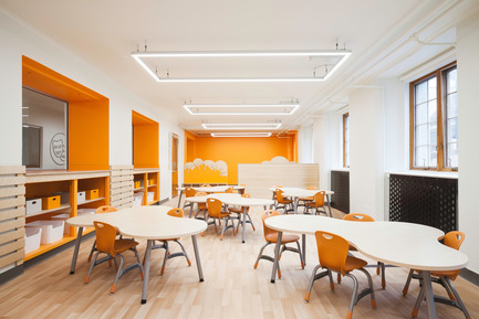 Press kit | 1299-01 - Press release | Sainte-Anne Academy, the school of tomorrow - Taktik design - Institutional Architecture - <br> Kindergarten classroom - Photo credit: Maxime Brouillet