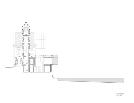 Press kit | 1070-02 - Press release | Old Post Office Idea Exchange - RDH Architects - Institutional Architecture - Cross Section Drawing - Photo credit: RDHA