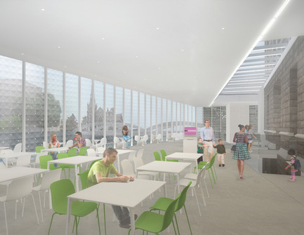 Press kit | 1070-02 - Press release | Old Post Office Idea Exchange - RDH Architects - Institutional Architecture - Rendered Interior View Looking North West - Photo credit: RDHA