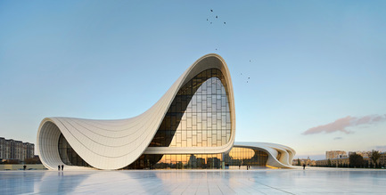 Press kit | 2072-01 - Press release | Zaha Hadid1950­-2016 - Zaha Hadid Architects - Event + Exhibition - Heydar Aliyev Center, Baku - Photo credit: Hufton+Crow