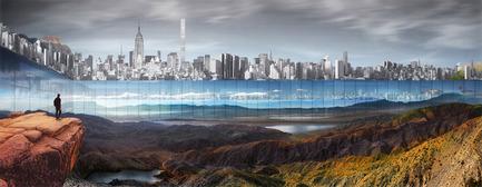 Press kit | 2069-01 - Press release | Winner of 2016 eVolo Skyscraper Competition Reimagines the Future of New York City's Skyline - Jianshi Wu, Yitan Sun - Urban Design - Perspective Rendering - Photo credit:  Jianshi Wu, Yitan Sun