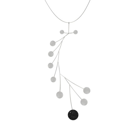 Press kit | 2063-01 - Press release | Stellar, a new concrete-and-diamond jewelry collection from Konzuk, launches at ICFF in New York in May 2016 - KONZUK - Product - Konzuk Stellar Collection:Arcturus, necklace - Photo credit: Jason Koroluk