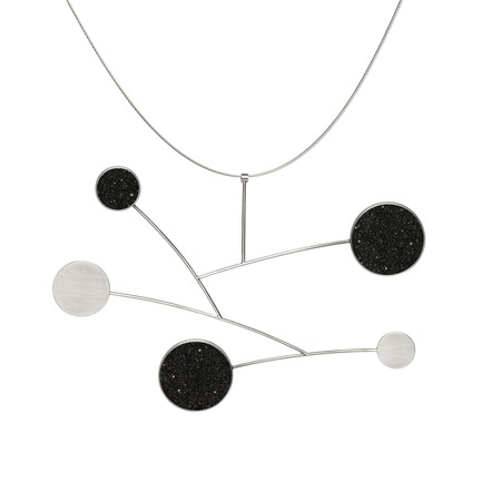Press kit | 2063-01 - Press release | Stellar, a new concrete-and-diamond jewelry collection from Konzuk, launches at ICFF in New York in May 2016 - KONZUK - Product -   Konzuk Stellar Collection:Draco, necklace  - Photo credit:  Jason Koroluk