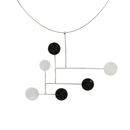 Press kit | 2063-01 - Press release | Stellar, a new concrete-and-diamond jewelry collection from Konzuk, launches at ICFF in New York in May 2016 - KONZUK - Product - Konzuk Stellar Collection:Fay, necklace - Photo credit: Jason Koroluk
