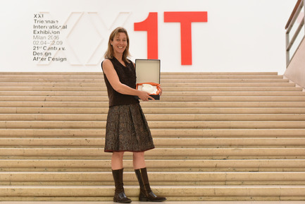 Press kit | 2076-01 - Press release | Italcementi's Award to Women's Architecture and a Special Award in Memory of the extraordinary Gae Aulenti - Italcementi Group - Competition - Winner - Jennifer Siegal - Triennale - Milan