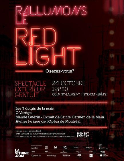 Press kit | 1098-01 - Press release | Illuminate the Red Light! Will you dare? - La Vitrine culturelle de Montréal - Event + Exhibition