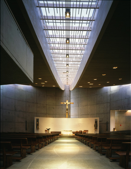 Press kit | 2076-01 - Press release | Italcementi's Award to Women's Architecture and a Special Award in Memory of the extraordinary Gae Aulenti - Italcementi Group - Competition - Holy Spirit Chapel - Capilla roof