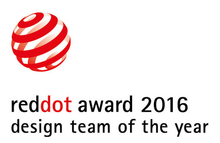 Press kit | 1696-07 - Press release | Blackmagic Industrial Design Team led by Simon Kidd is  Red Dot: Design Team of the Year 2016! - Red Dot Award - Competition - Label of the Red Dot: Design Team of the Year 2016 - Photo credit: Red Dot