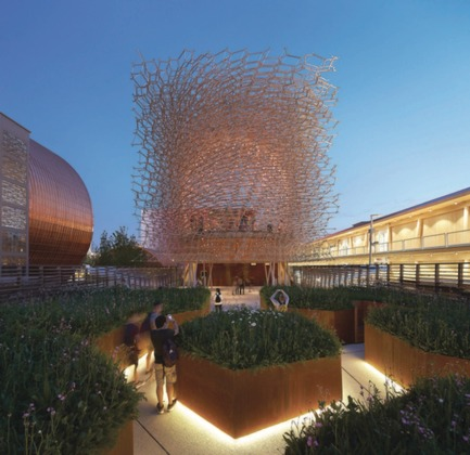 Press kit | 1071-03 - Press release | Architizer Announces 2016 A+Awards Winners - Architizer - Competition - UK Pavilion, Milan Expo 2015 by Wolfgang Buttress, Jury and Public<br>Winner, Pavilions - Photo credit: Architizer