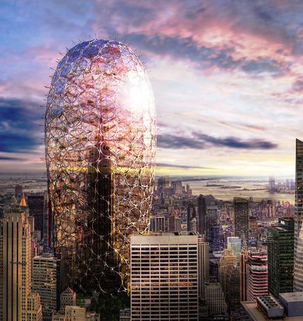 Dossier de presse | 1127-05 - Communiqué de presse | Winners 2016 Skyscraper Competition - eVolo Magazine - Concours - Sustainable Skyscraper Enclosure - Crédit photo : Soomin Kim, Seo-Hyun Oh