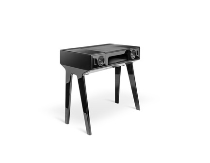 Press kit | 2075-01 - Press release | La Boite concept's LP 160 awarded by a Red Dot Design Award - La Boite concept - Product - La Boite concept LP 160 black lacquered packshot - Photo credit: David Meignan