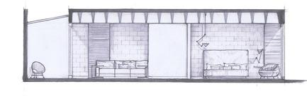 Press kit | 1825-03 - Press release | Hegel Apartment - Arqmov Workshop - Residential Interior Design - Section B - Photo credit: ARQMOV WORKSHOP