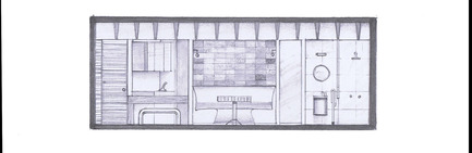 Dossier de presse | 1825-03 - Communiqué de presse | Hegel Apartment - Arqmov Workshop - Design d'intérieur résidentiel - Section A - Crédit photo : ARQMOV WORKSHOP