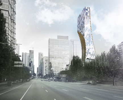 Dossier de presse | 2051-02 - Communiqué de presse | Alberni by Kuma: Kengo Kuma Reveals Details for His First North American, Large-Scale Tower in Vancouver, British Columbia - Westbank - Residential Architecture - Alberni by Kuma  - Crédit photo : KKAA