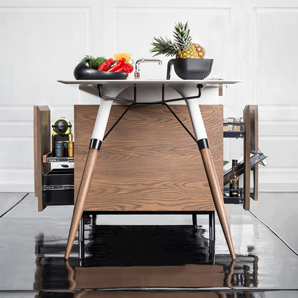 Press kit   902-07 - Press release   A' Design Awards 2016 Winners Announced - A' Design Award and Competition - Residential Architecture - Kitch T Compact Kitchen - Photo credit: dsignedby / Irena Kilibarda (designer) / Kitch' T, 2016.