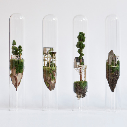 Press kit | 902-07 - Press release | A' Design Awards 2016 Winners Announced - A' Design Award and Competition - Residential Architecture - Micro Matter Miniature Sculptures in Glass Test Tubes - Photo credit: Rosa de Jong