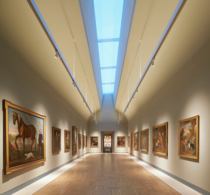Press kit | 1164-01 - Press release | The Harley Gallery - Hugh Broughton Architects - Art - The Long Gallery in the the Harley Gallery, Welbeck <br> - Photo credit: Hufton+Crow