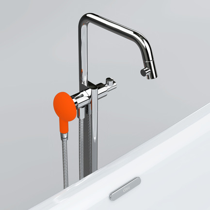 Press kit | 2103-01 - Press release | Red Dot Design Award Best of the Best: Special recognition for exceptional quality - Clou - Residential Interior Design -  Clou - Kaldur freestanding bathtub mixer  - Photo credit:  Clou bv.