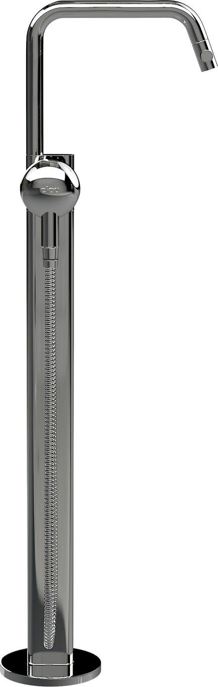 Press kit | 2103-01 - Press release | Red Dot Design Award Best of the Best: Special recognition for exceptional quality - Clou - Residential Interior Design - Clou - Kaldur freestanding bathtub mixer with chrome Kaldur handshower - Photo credit: Clou bv.