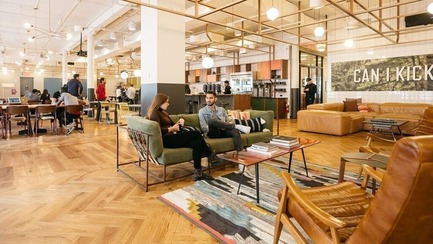 Press kit | 2092-01 - Press release | designjunction + Dwell on Design announce line-up for NYCxDesign 2016 - designjunction + Dwell on Design - Event + Exhibition - Example of a co-working space from WeWork - Photo credit: designjunction + dwell on design