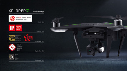 Press kit | 2109-01 - Press release | XIRO Xplorer Unmanned Aerial Vehicle Won Three Red Dot Design Awards - Shenzhen   zero-tech UAV Limited - Product - XIRO Xplorer Unmanned Aerial Vehicle - Photo credit: Xplorer v
