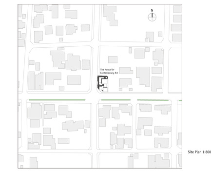 Press kit | 875-02 - Press release | The House for Contemporary Art / Award-winning project - Ryumei Fujiki + Yukiko Sato / F.A.D.S - Residential Architecture - Site Plan 1:800 - Photo credit: F.A.D.S
