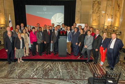 Press kit | 562-64 - Press release | Legacy of Montréal's 375th anniversary - Montréal introduces honourary order to recognize exceptional citizens - City of Montréal - Industrial Design - City Council launching the Order of Montréal at the City Hall on May 17, 2016 - Photo credit: Denis Labine, Ville de Montréal