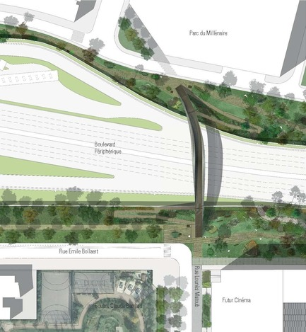 Press kit | 2042-02 - Press release | The Claude Bernard overpass - DVVD architecture, design and engineering agency - Landscape Architecture - Photo credit:   DVVD