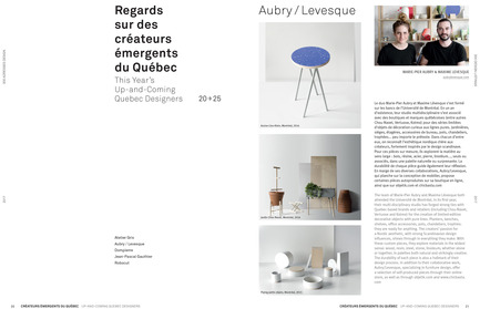 Press kit | 611-23 - Press release | Index-Design lance la 9e édition du Guide – 300 adresses design pour aménager et rénover - Index-Desig - Edition - This Year's Up-and-Coming Quebec Designers - Photo credit: Index-Design