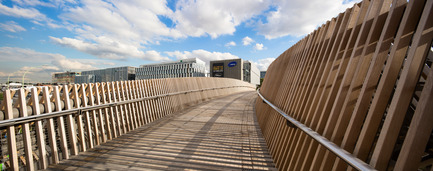 Press kit | 2042-02 - Press release | The Claude Bernard overpass - DVVD architecture, design and engineering agency - Landscape Architecture - Photo credit: Luc Boegly