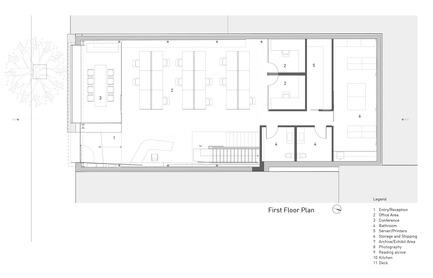 Dossier de presse | 1891-02 - Communiqué de presse | Hybrid Design - Terry & Terry Architecture - Commercial Architecture - first/ground floor plan - Crédit photo : Terry.Terry Architecture