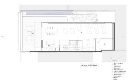 Dossier de presse | 1891-02 - Communiqué de presse | Hybrid Design - Terry & Terry Architecture - Commercial Architecture - second floor plan - Crédit photo : Terry.Terry Architecture