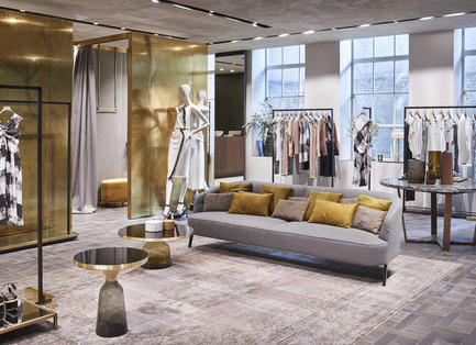 Press kit | 1124-08 - Press release | WIN Awards - Retail & Workspace Interiors Shortlist Announced - World Interiors News - Commercial Interior Design - WIN Awards 2016 - Retail Interiors Greater Than 200 SQM Category: Max Mara Boutique by Duccio Grassi Architects (Italy) <br><br>Max Mara renews and expands its flagship store in London, located in the prestigious Old Bond Street. <br><br>Structured on three selling floors, this space of almost 1,000 sq. m is one of the largest Max Mara stores of Europe. The keyword to this design is contrast: the succession of volumes and empty spaces, the ensemble of different materials, the combination of straight and curved lines, everything contributes in giving a unique look to the London boutique.<br><br>'This project is beautifully executed. It has a combination of extremely luxurious material, with bare cement columns to showcase the architecture of the building. The furniture and fittings are well designed and display the product perfectly.' HB <br><br>'Truly modern and luxurious. The attention to detail and finishes are excellent. A real statement of authority for a brand flagship.  The use of outdoor space is well considered and brings softness to the design. Clean, considered with a good dose of modern aspirational living.' MM - Photo credit: Duccio Grassi Architects